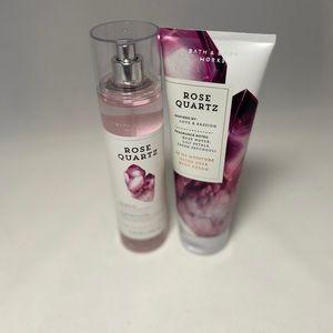 Rose quartz body cream and mist set